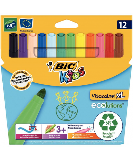 Pochette de 12 Visacolor XL...