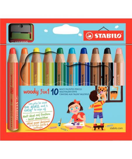Etui de 10 crayons de...