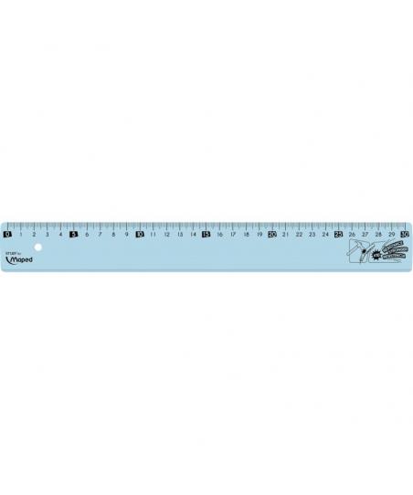 Règle plate incassable 30 cm